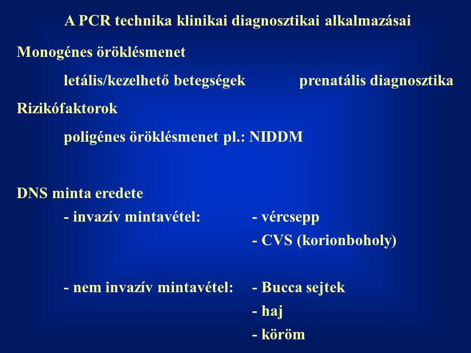 A PCR technika klinikai diagnosztikai alkalmazásai