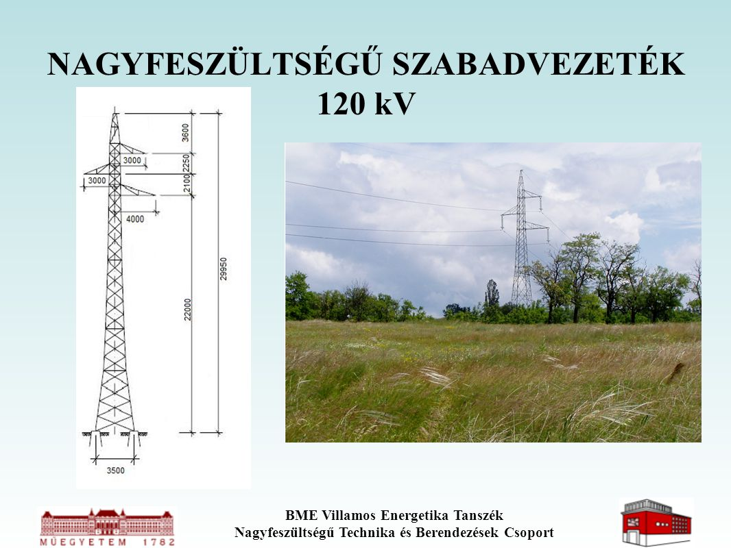 NAGYFESZÜLTSÉGŰ SZABADVEZETÉK 120 kV