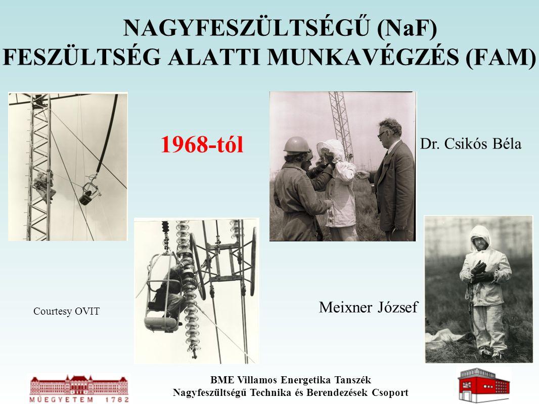 NAGYFESZÜLTSÉGŰ (NaF) FESZÜLTSÉG ALATTI MUNKAVÉGZÉS (FAM) 1968-tól