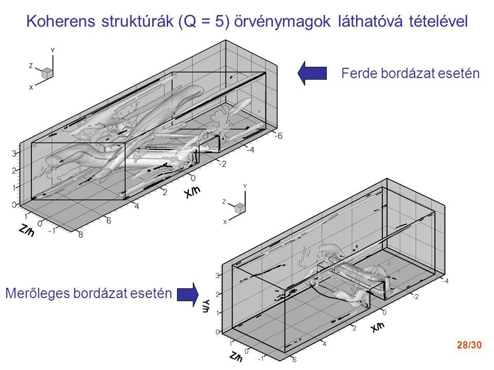 Koherens struktúrák (Q = 5) örvénymagok láthatóvá tételével