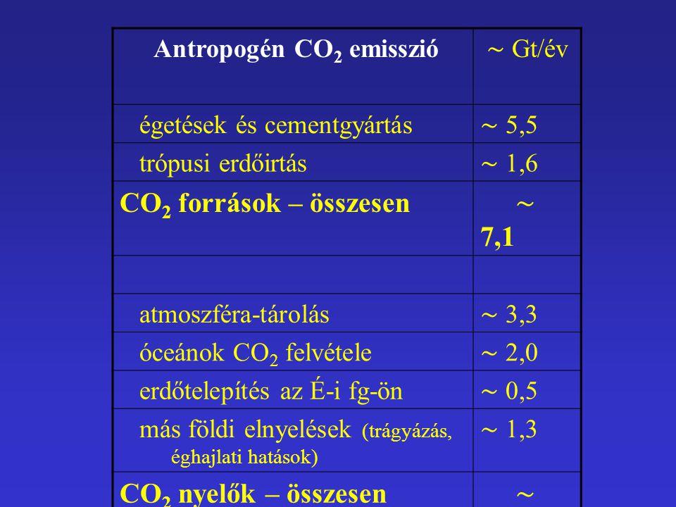 Antropogén CO2 emisszió