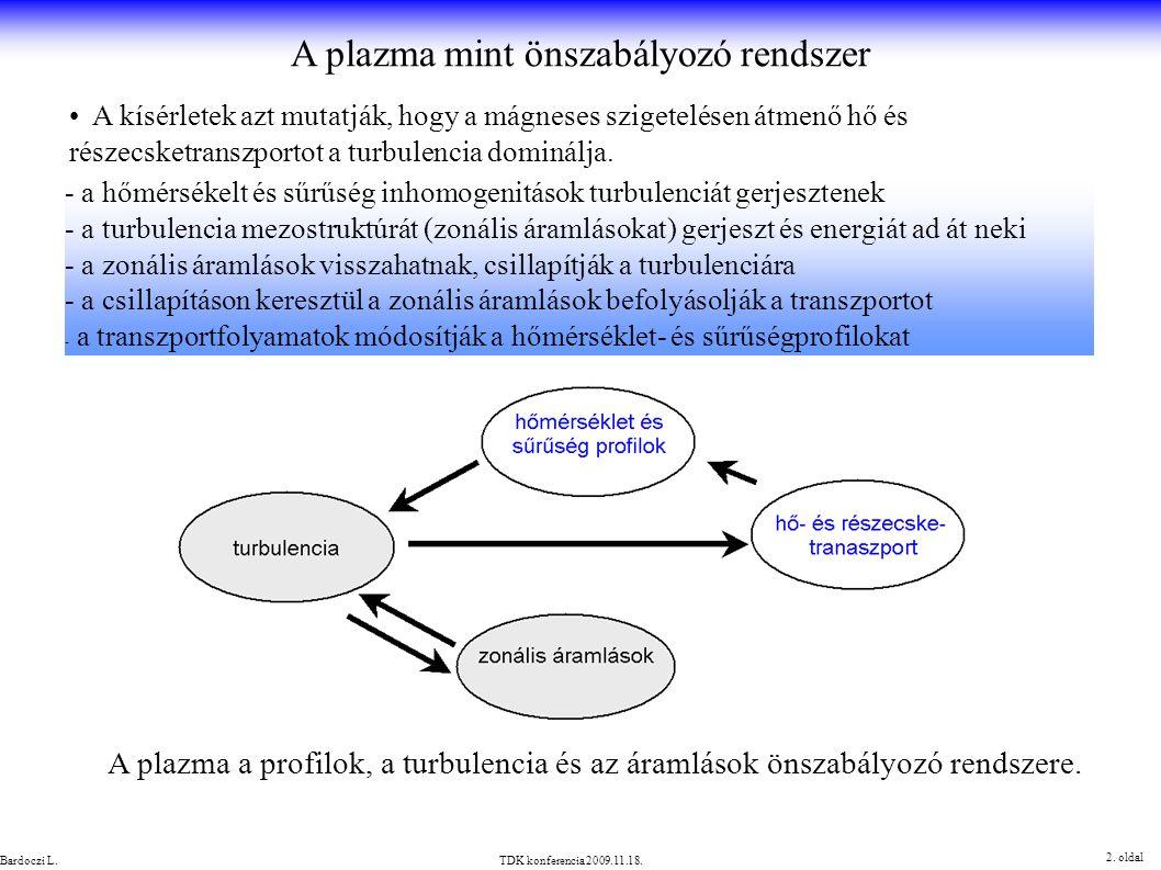 A plazma mint önszabályozó rendszer