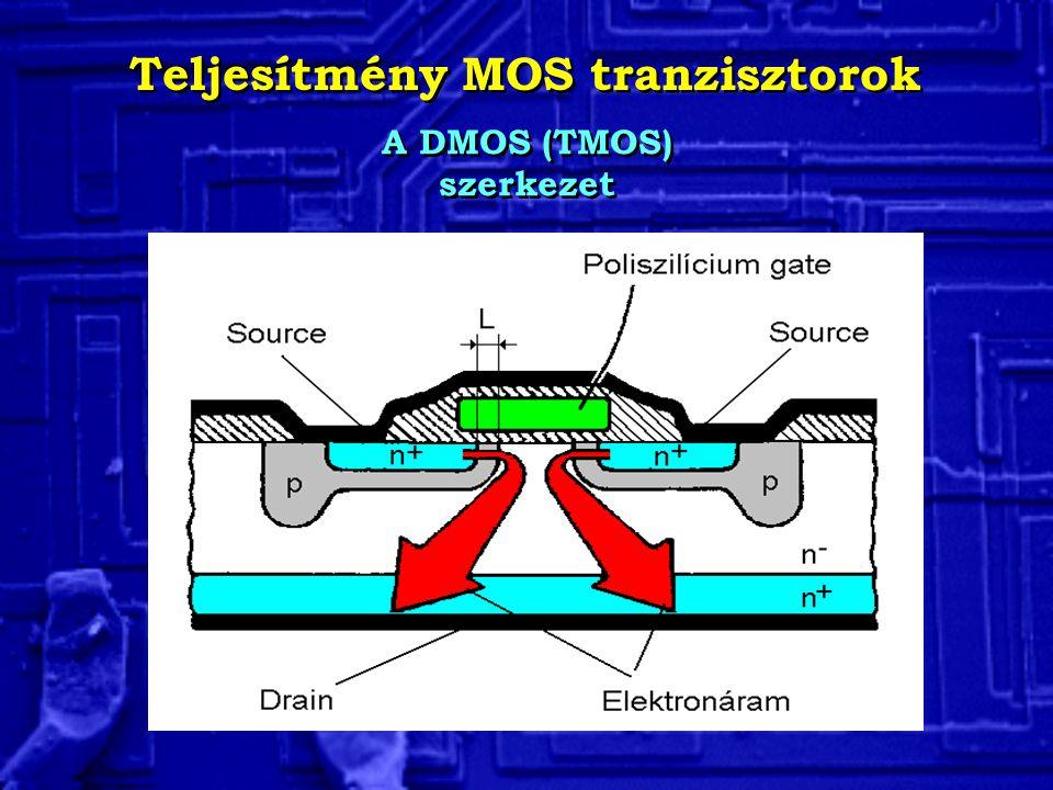 Teljesítmény MOS tranzisztorok A DMOS (TMOS) szerkezet