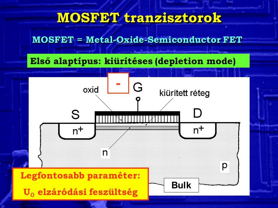 MOSFET tranzisztorok -
