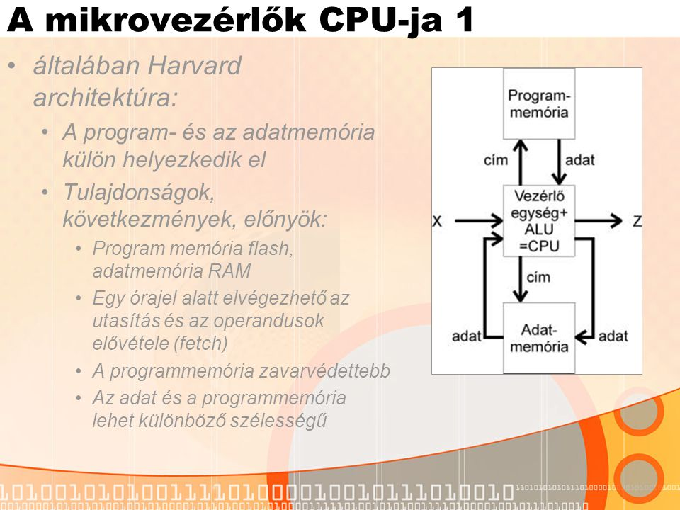 A mikrovezérlők CPU-ja 1