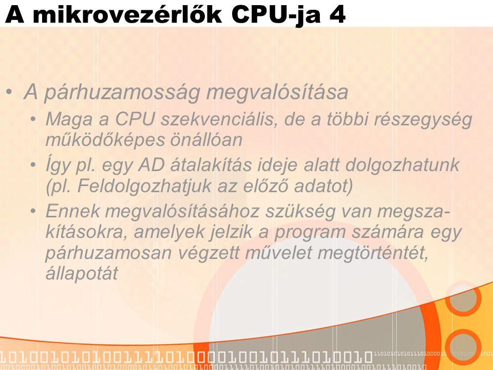 A mikrovezérlők CPU-ja 4