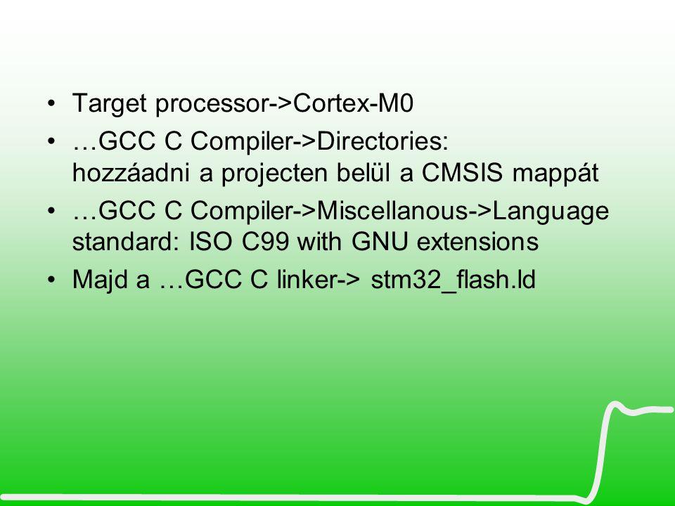 Target processor->Cortex-M0