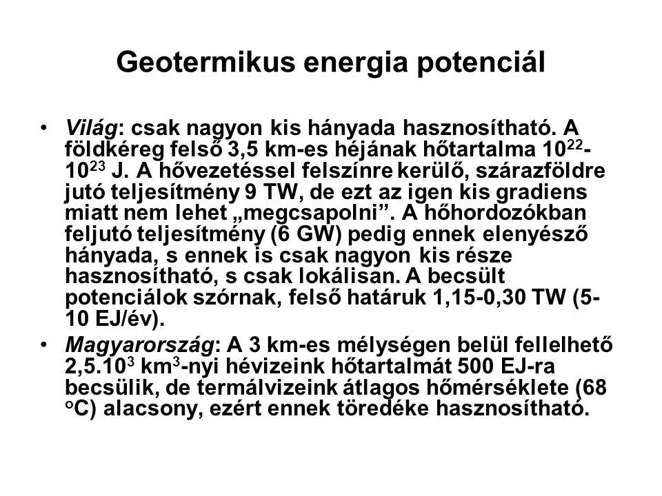 Geotermikus energia potenciál