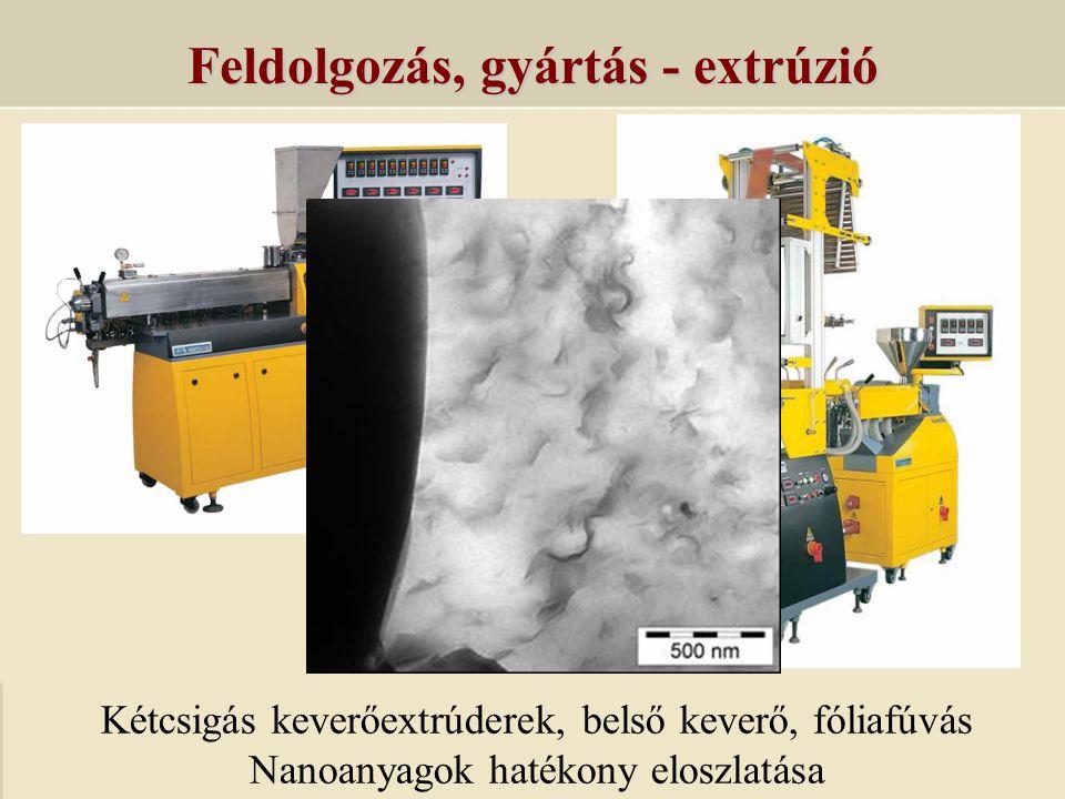 Feldolgozás, gyártás - extrúzió