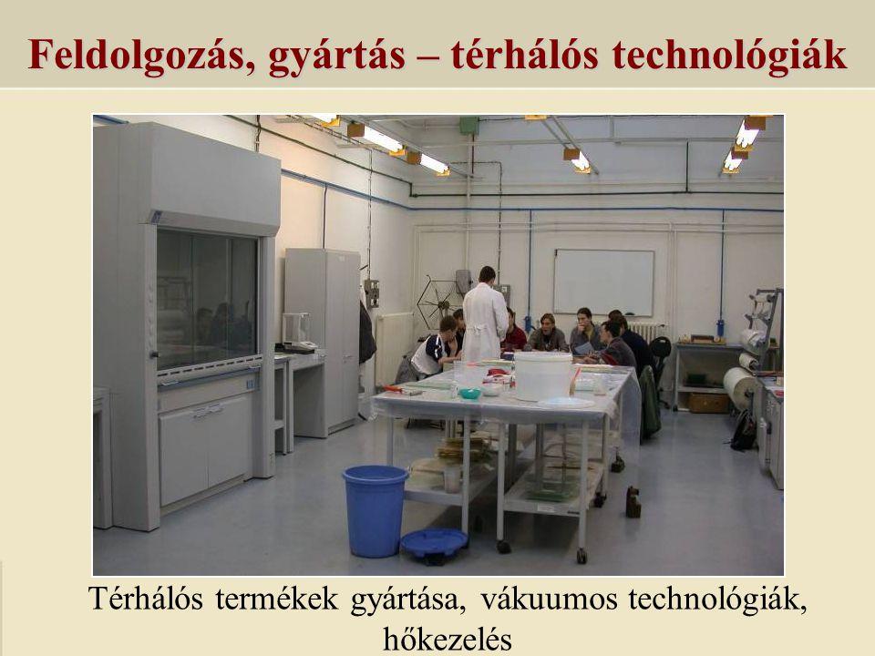 Feldolgozás, gyártás – térhálós technológiák