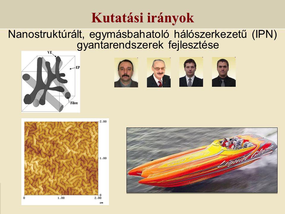 Kutatási irányok Nanostruktúrált, egymásbahatoló hálószerkezetű (IPN) gyantarendszerek fejlesztése