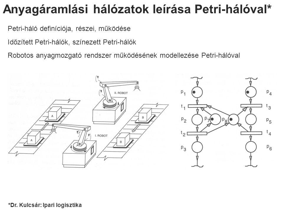 Anyagáramlási hálózatok leírása Petri-hálóval*