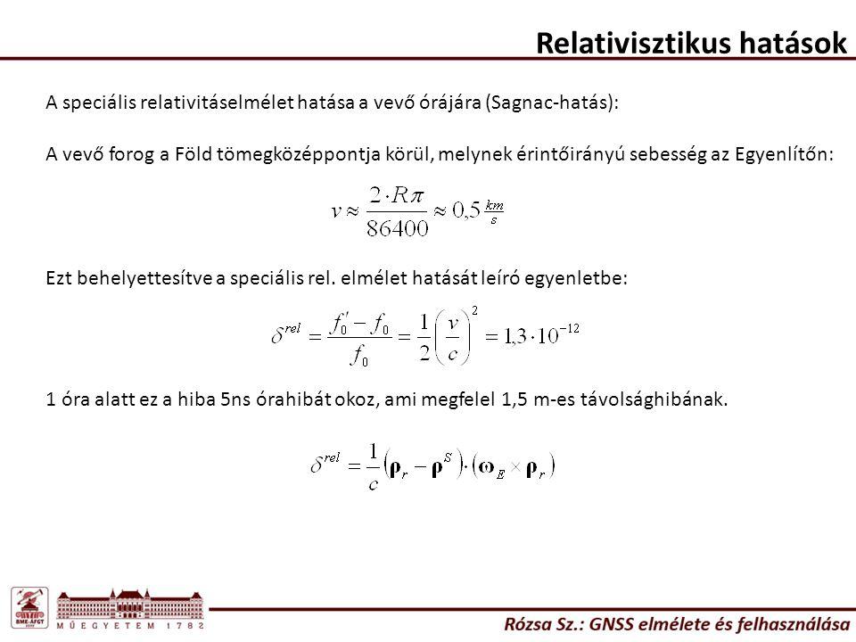 Relativisztikus hatások