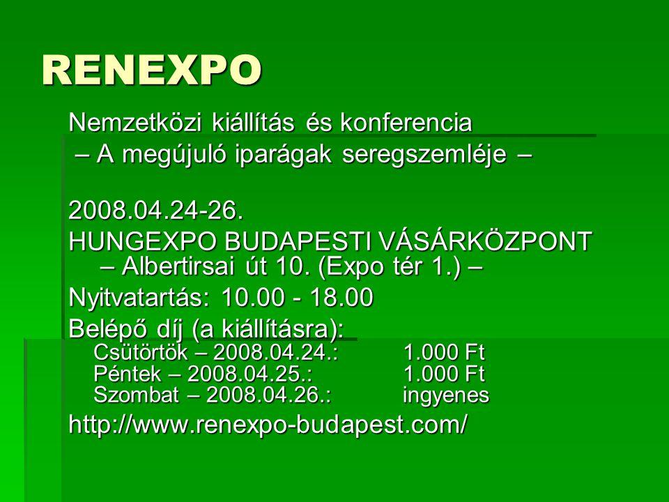 RENEXPO Nemzetközi kiállítás és konferencia