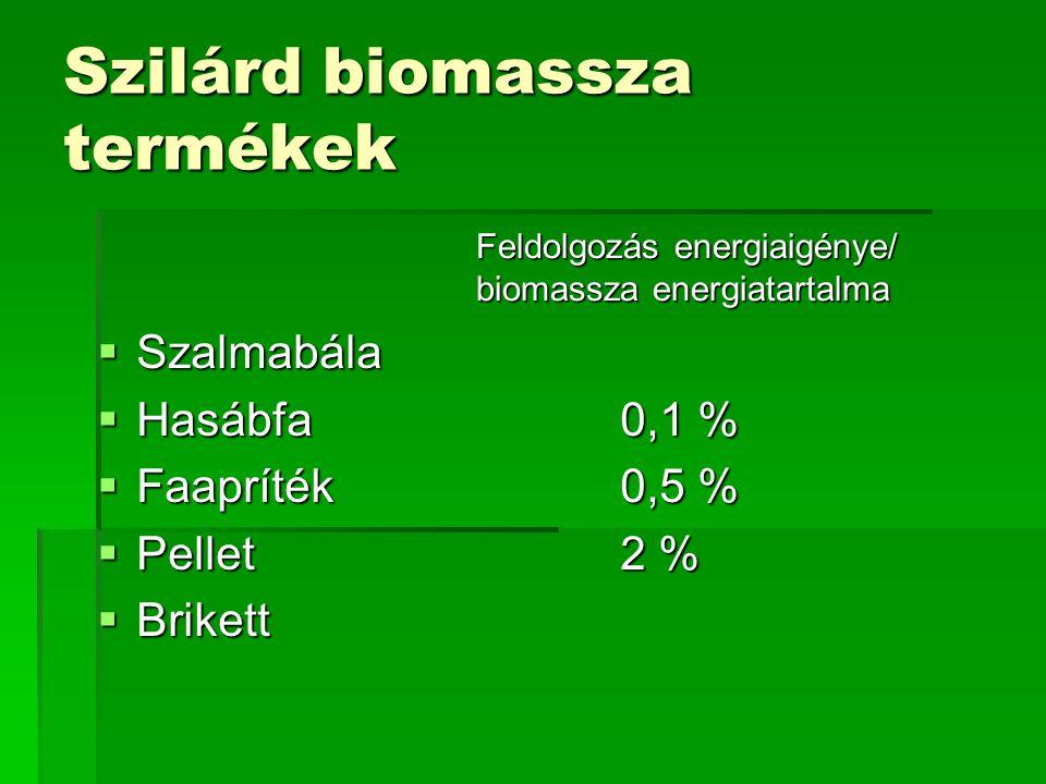 Szilárd biomassza termékek