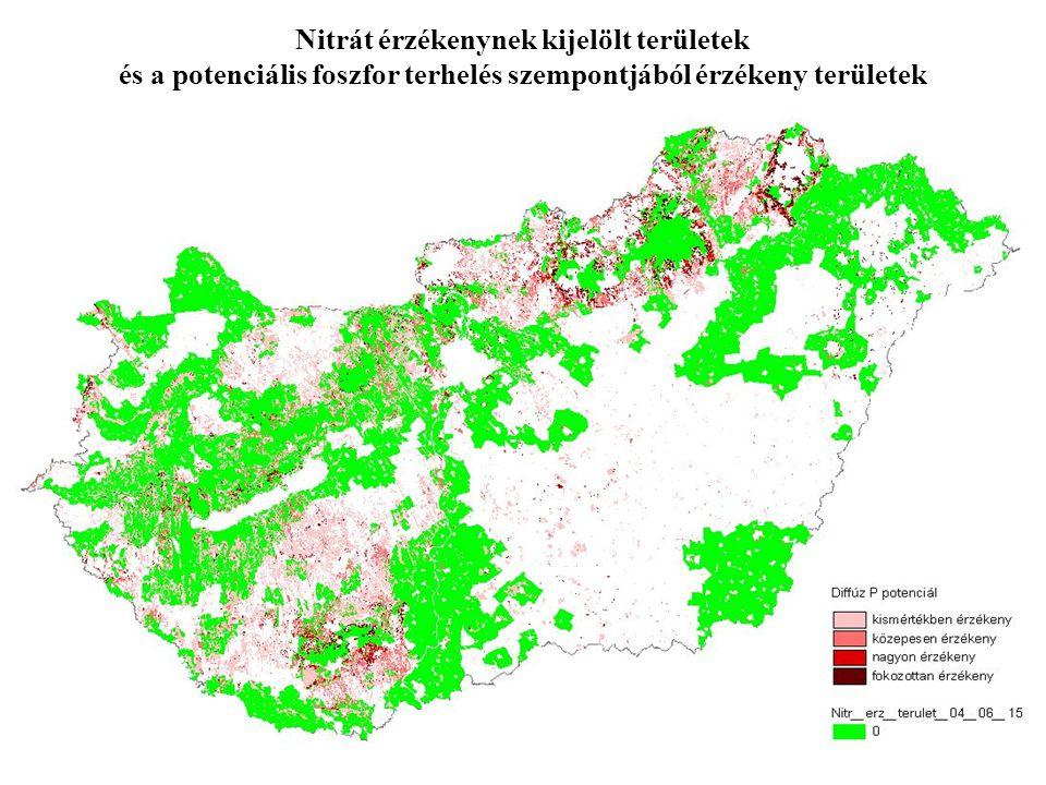 Nitrát érzékenynek kijelölt területek