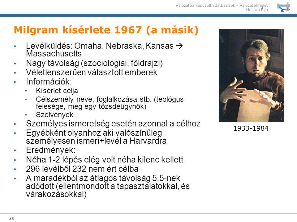 Milgram kísérlete 1967 (a másik)