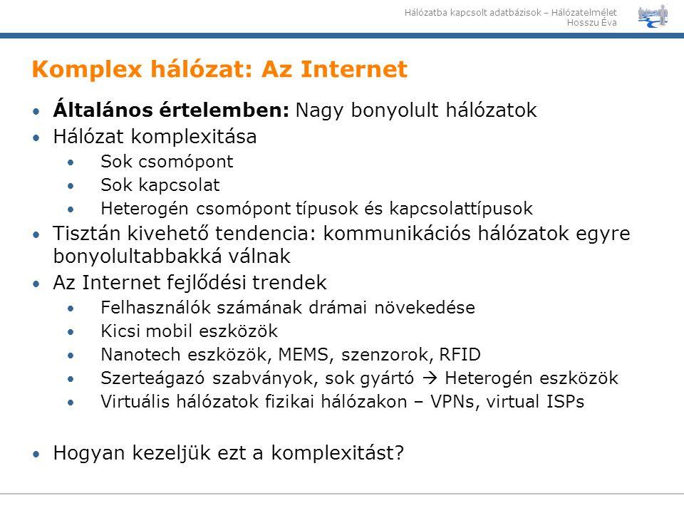 Komplex hálózat: Az Internet