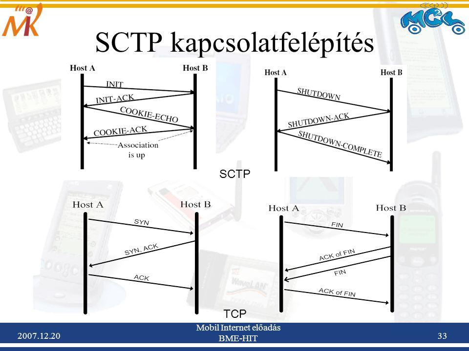 SCTP kapcsolatfelépítés