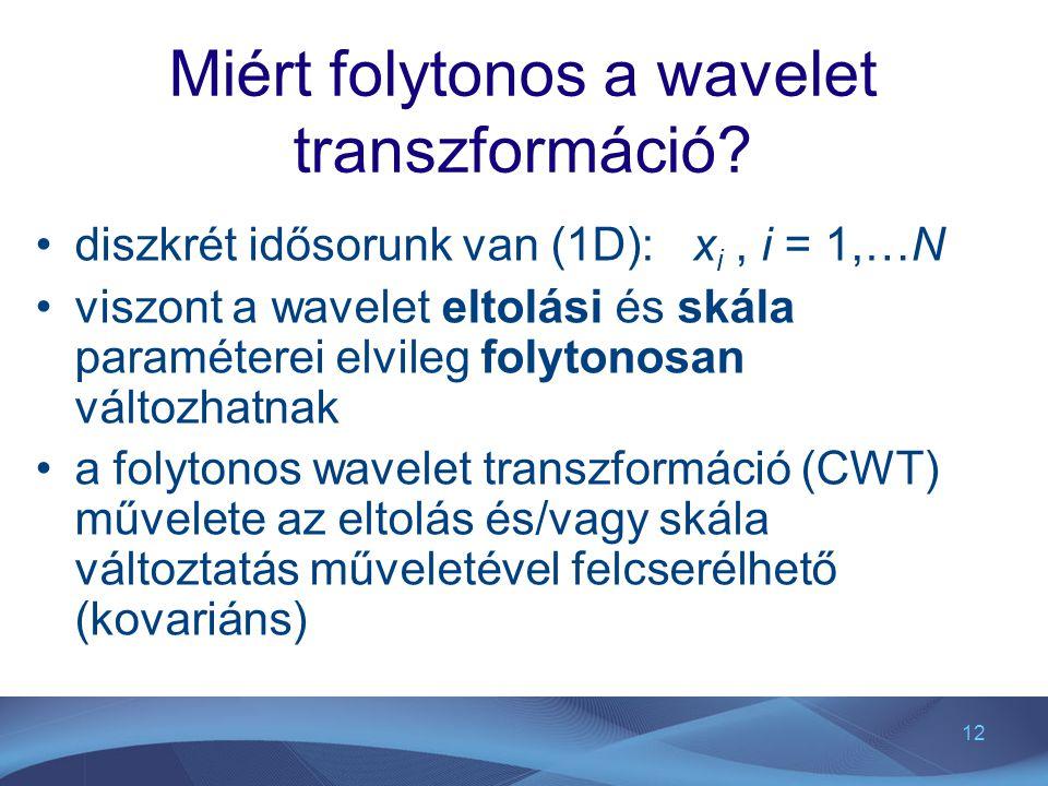 Miért folytonos a wavelet transzformáció