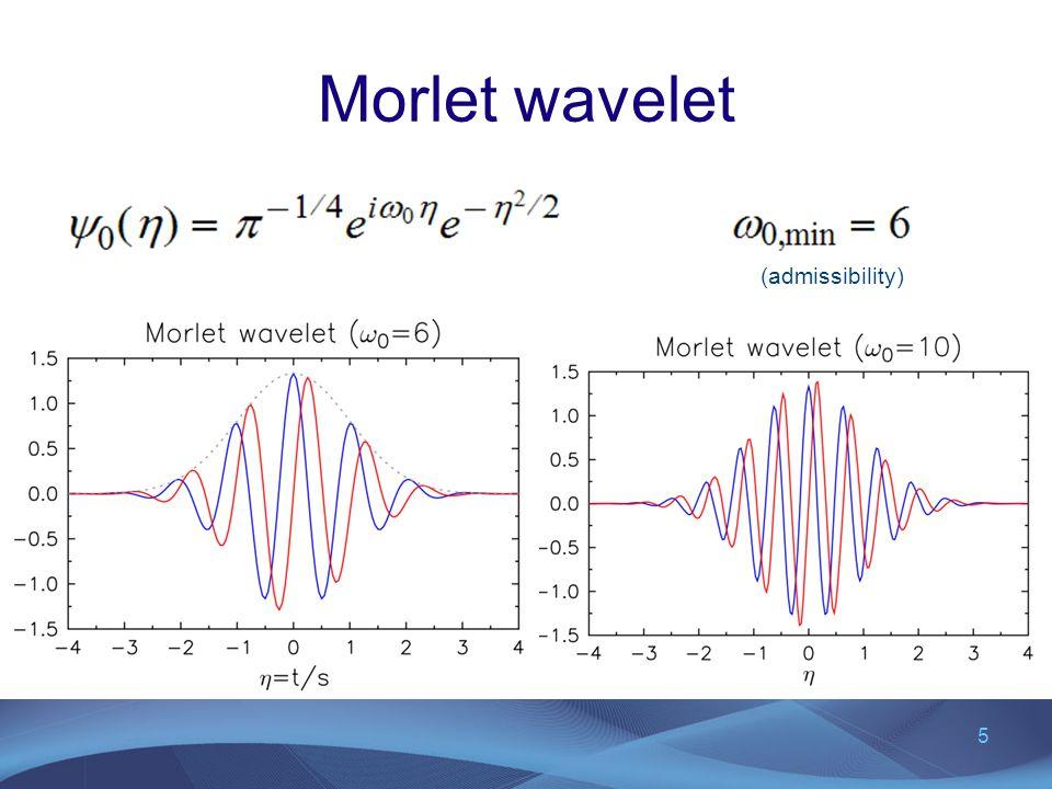Morlet wavelet (admissibility)