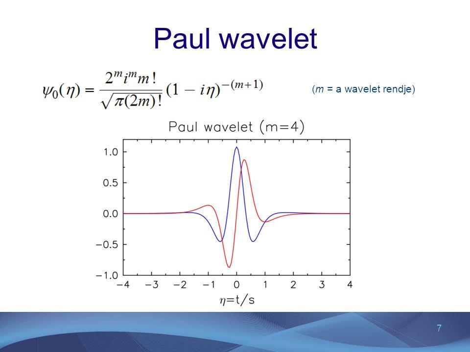 Paul wavelet (m = a wavelet rendje)