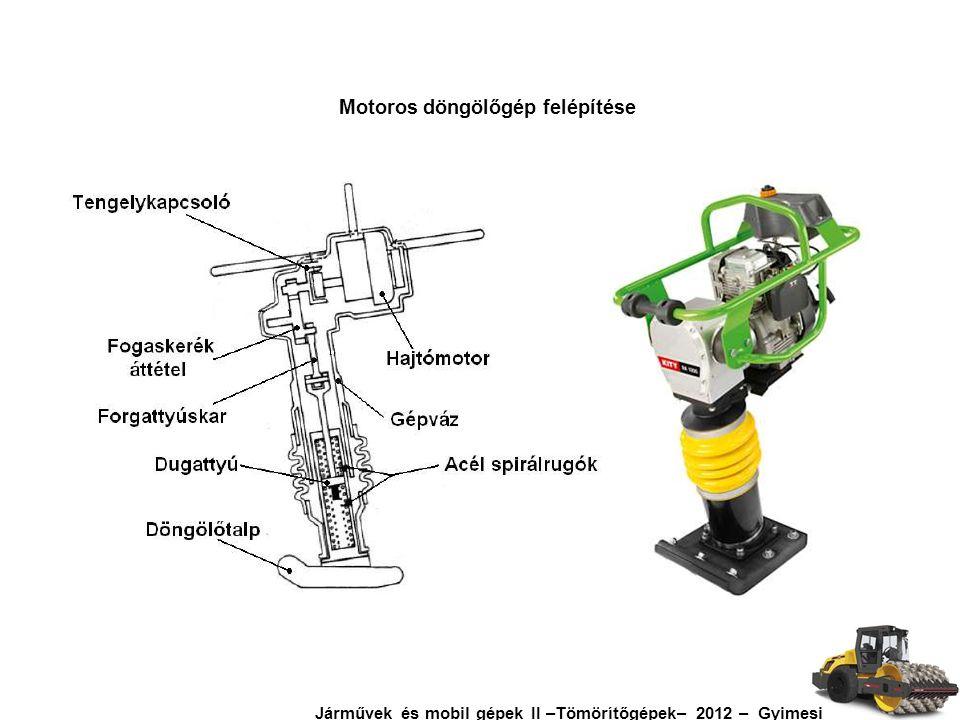 Motoros döngölőgép felépítése