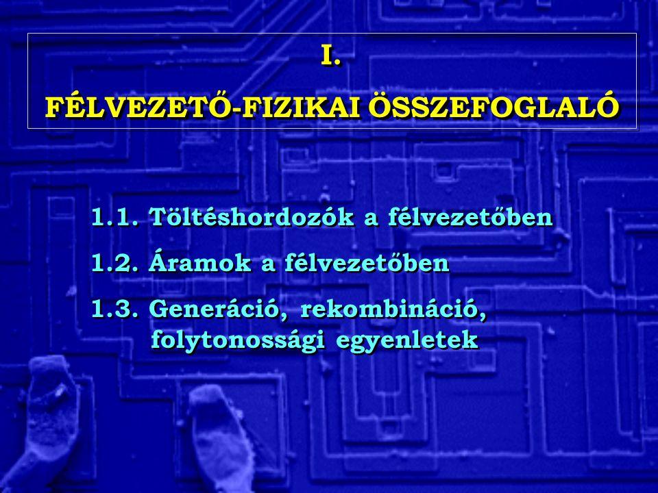 FÉLVEZETŐ-FIZIKAI ÖSSZEFOGLALÓ