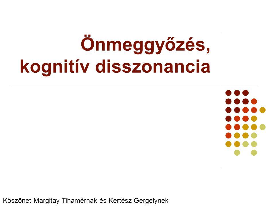 Önmeggyőzés, kognitív disszonancia
