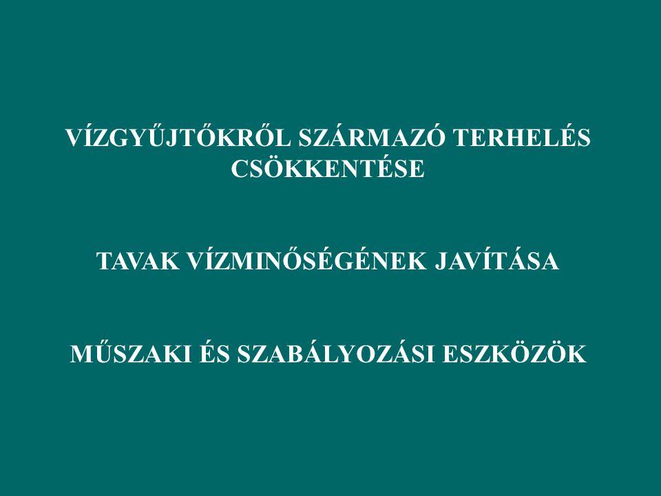 VÍZGYŰJTŐKRŐL SZÁRMAZÓ TERHELÉS CSÖKKENTÉSE