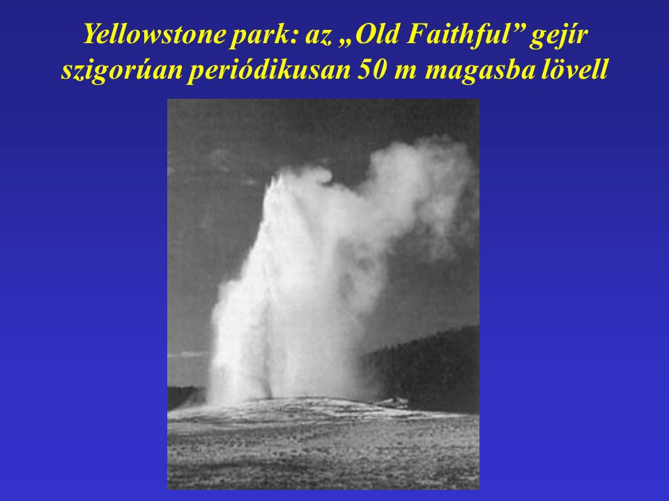 "Yellowstone park: az ""Old Faithful gejír"