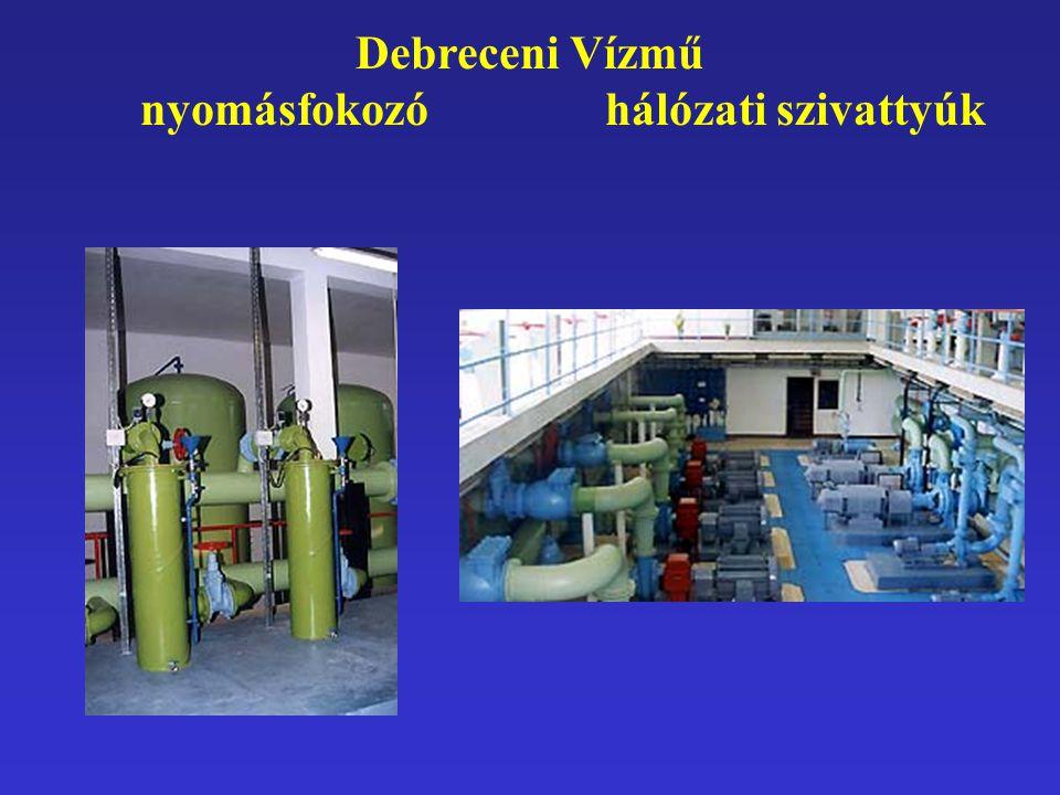 Debreceni Vízmű nyomásfokozó hálózati szivattyúk