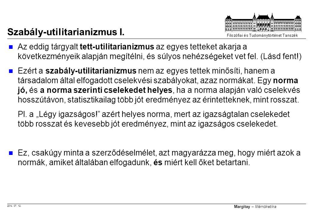Szabály-utilitarianizmus I.