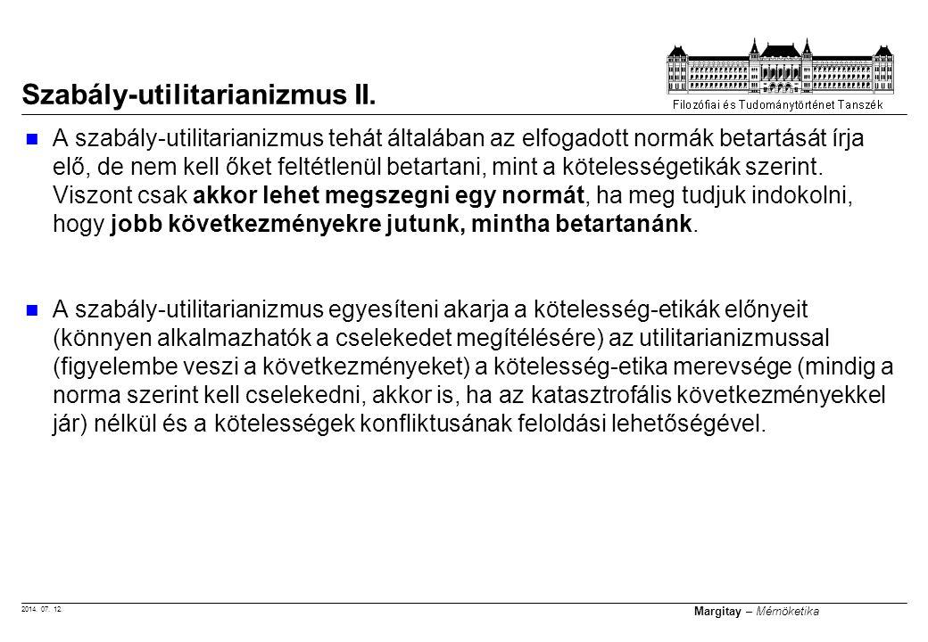 Szabály-utilitarianizmus II.