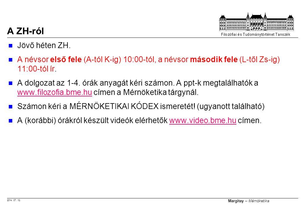 A ZH-ról Jövő héten ZH. A névsor első fele (A-tól K-ig) 10:00-tól, a névsor második fele (L-től Zs-ig) 11:00-tól ír.
