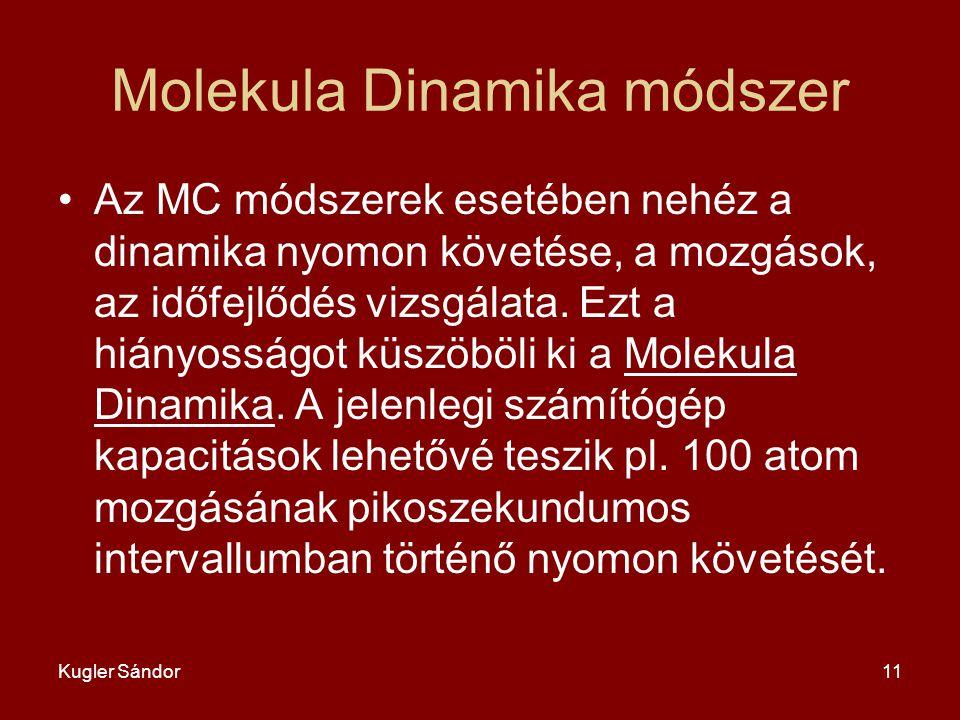 Molekula Dinamika módszer