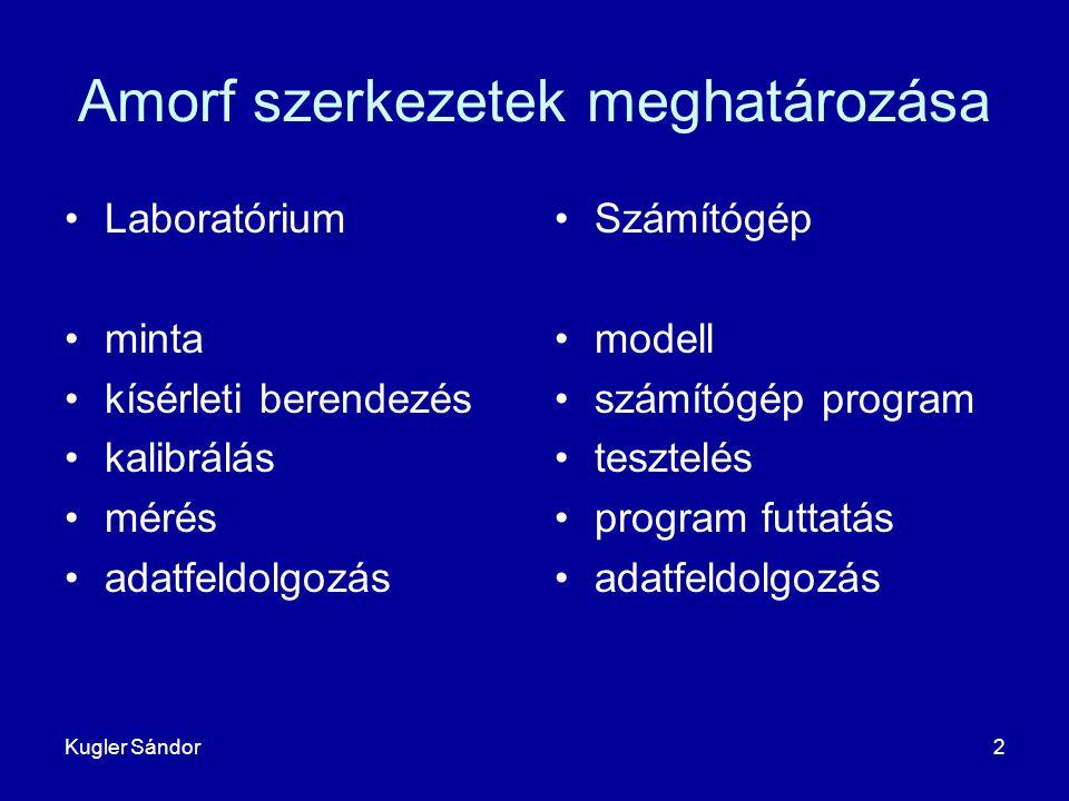 Amorf szerkezetek meghatározása