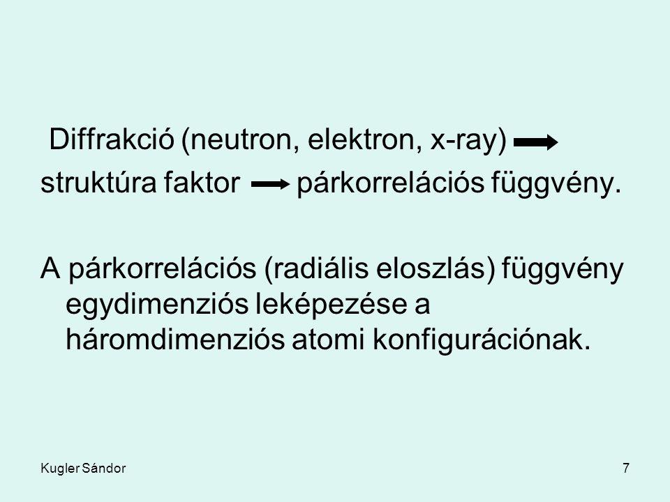 Diffrakció (neutron, elektron, x-ray)