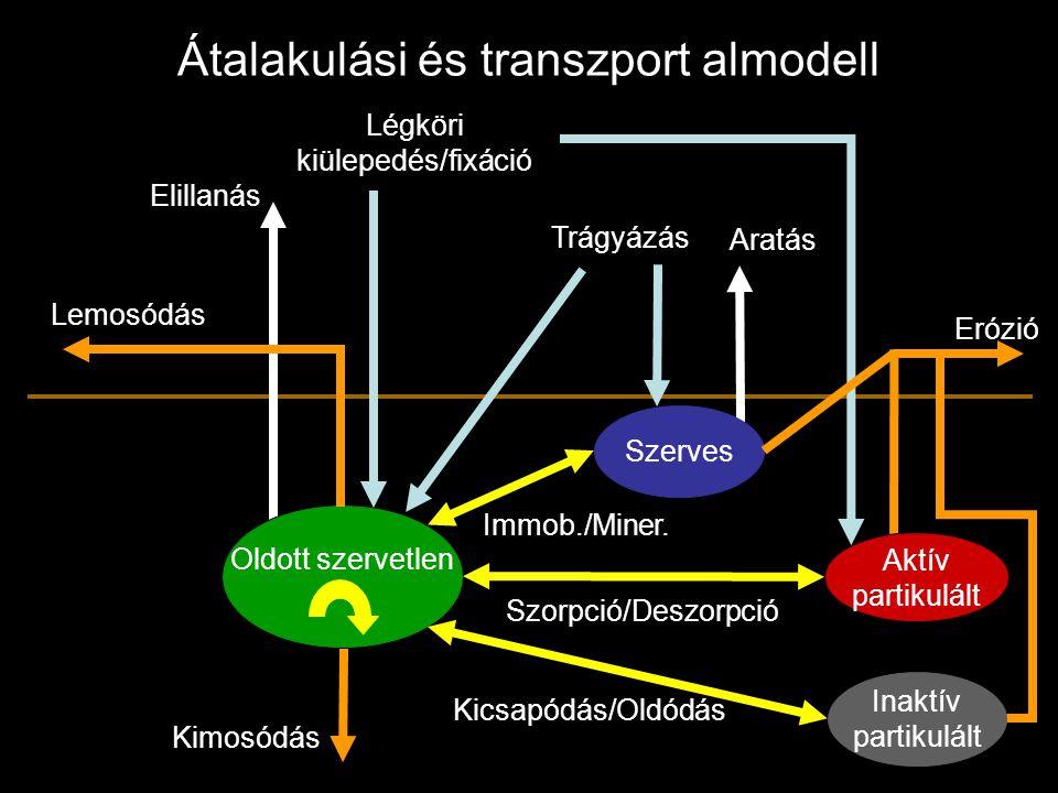 Átalakulási és transzport almodell