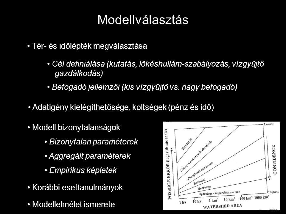Modellválasztás Tér- és időlépték megválasztása
