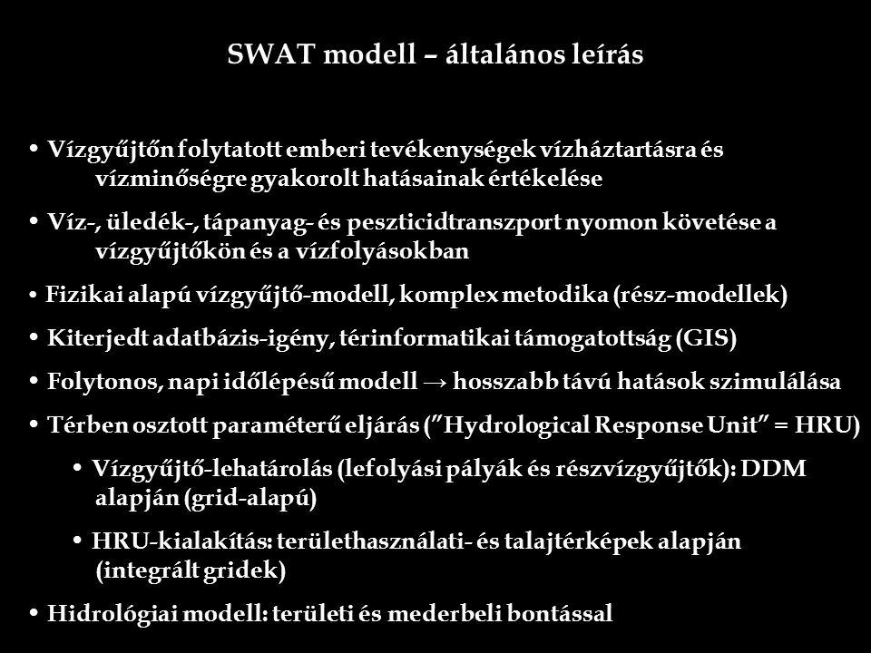 SWAT modell – általános leírás