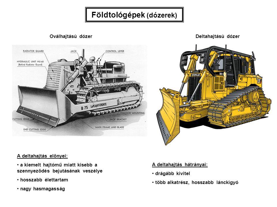 Földtológépek (dózerek)