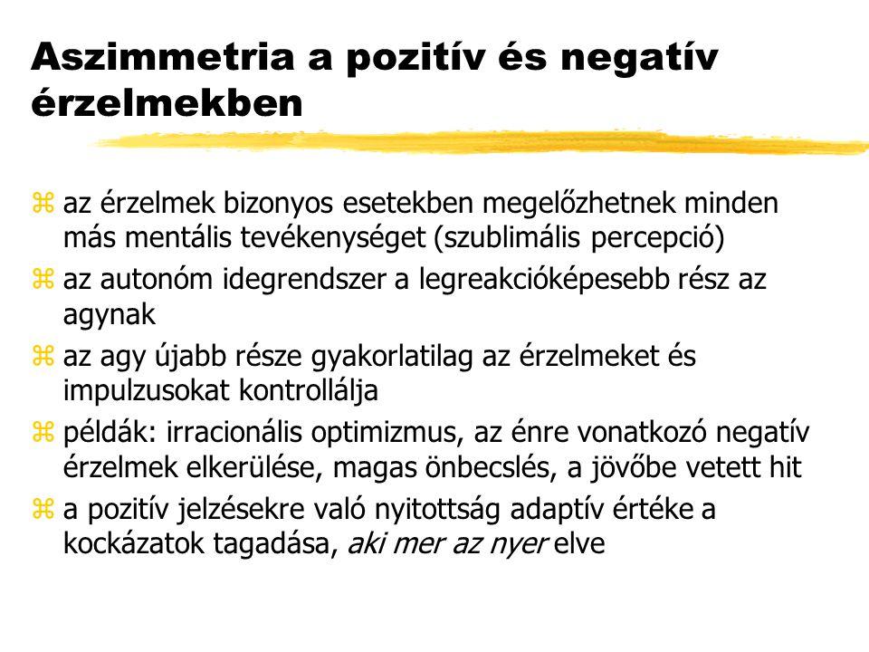 Aszimmetria a pozitív és negatív érzelmekben