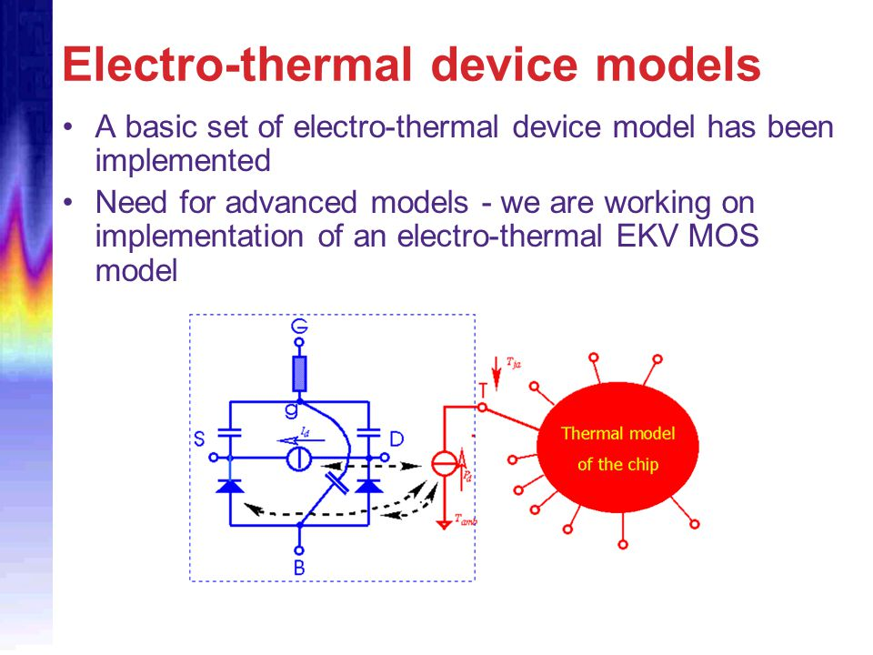 Electro-thermal device models
