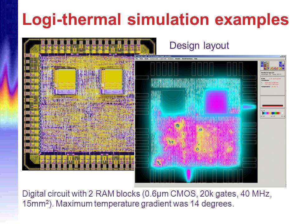 Logi-thermal simulation examples