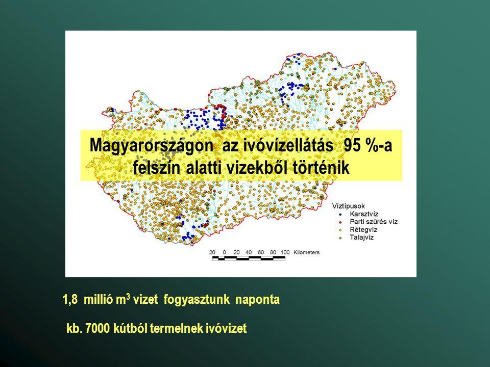 Magyarországon az ivóvízellátás 95 %-a