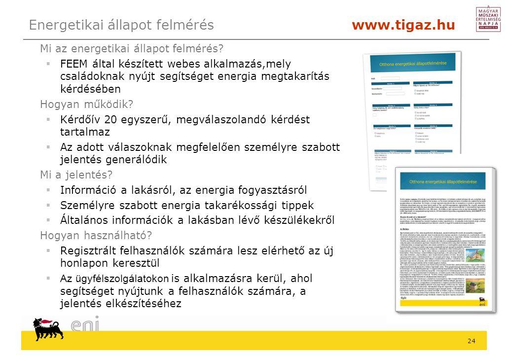 Energetikai állapot felmérés www.tigaz.hu
