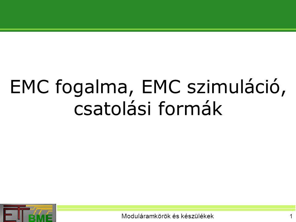 EMC fogalma, EMC szimuláció, csatolási formák