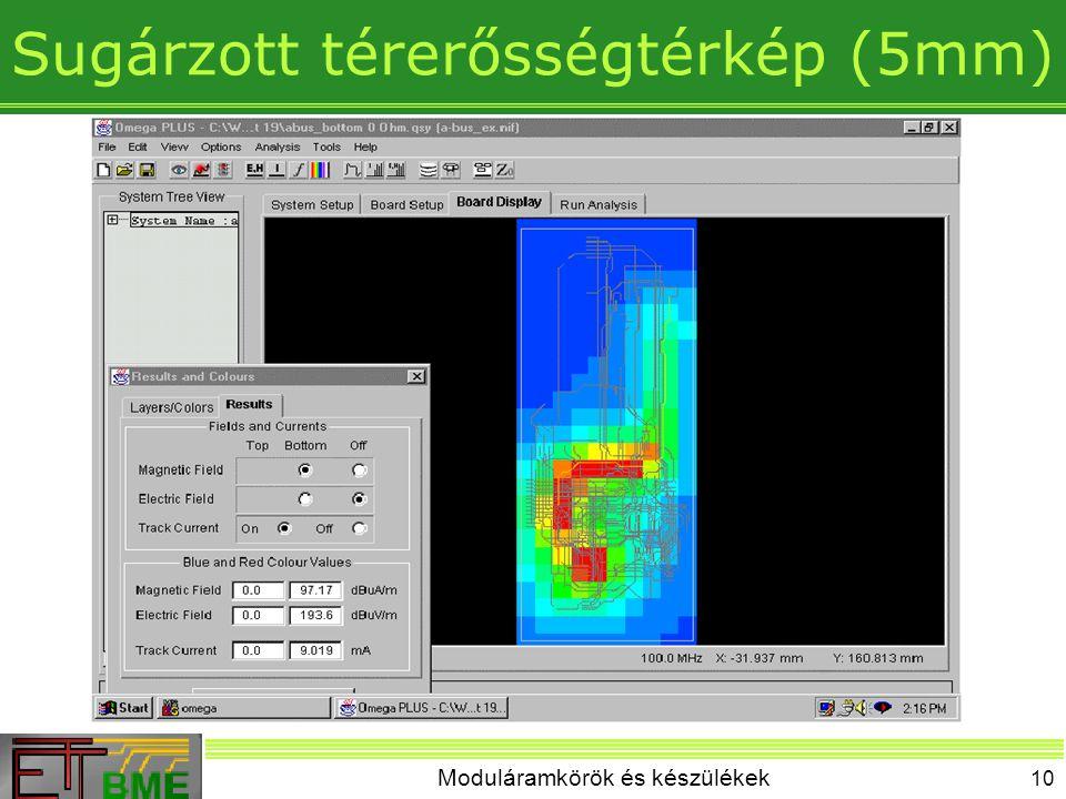 Sugárzott térerősségtérkép (5mm)