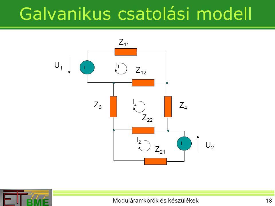 Galvanikus csatolási modell